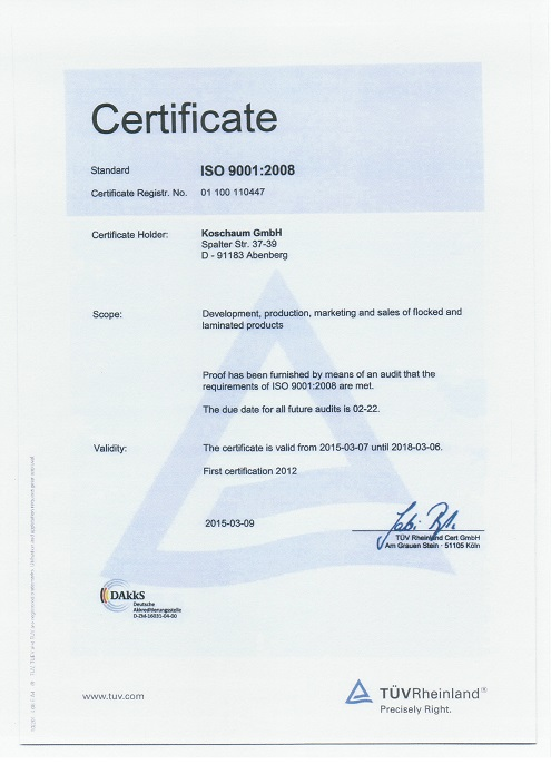 ISO-Certificate Koschaum GmbH